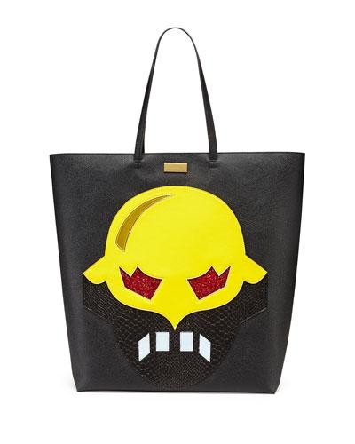 Super Hero Tote Bag, Black/Yellow