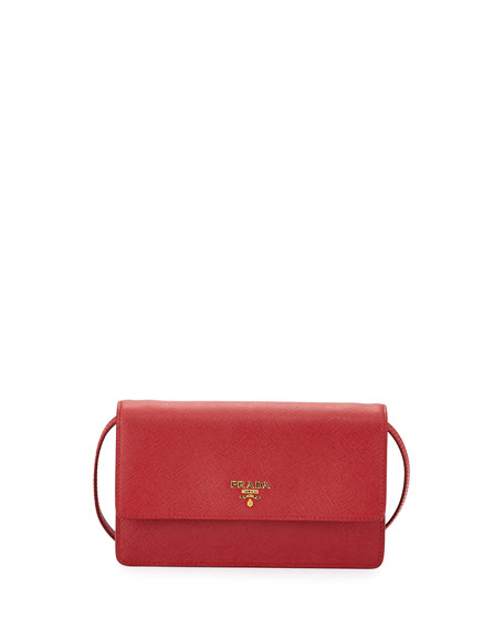 fc02ba67dba9 Prada Saffiano Mini Crossbody Bag, Red (Fuoco)