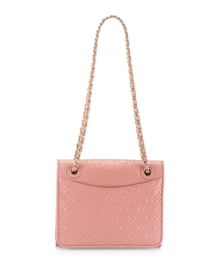 d1640c5155d Tory Burch Fleming Quilted Medium Flap Shoulder Bag, Pink