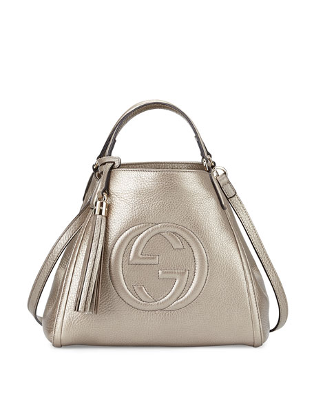 dedc38758e85 Gucci Soho Leather Shoulder Bag, New Golden Beige