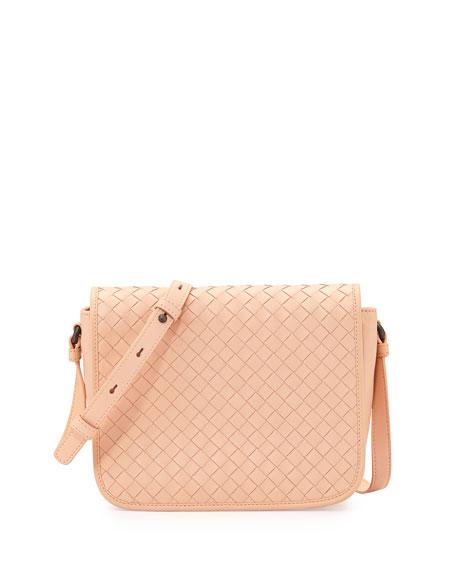 641e6d1f0d283 Bottega Veneta Small Woven-Flap Crossbody Bag