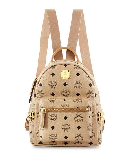 f99aff442 MCM Stark Side Stud Mini Backpack, Beige