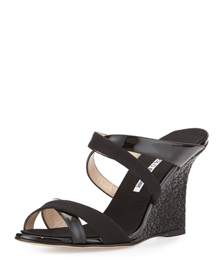 new styles cheap price explore Manolo Blahnik Patent Wedge Sandals prices for sale outlet store Locations PTbkF