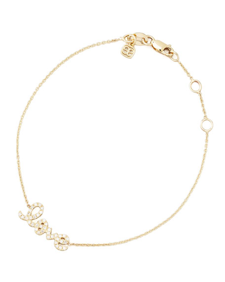 Sydney Evan Small Yellow Gold Diamond Love Bracelet MttdBz
