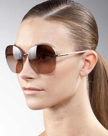 f35532e5cac Prada Oversize Rimless Sunglasses