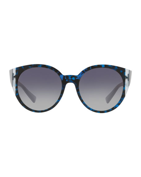 Valentino Two-Tone Acetate Round Sunglasses
