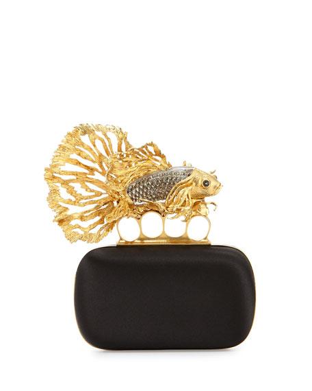 724885f399240 Alexander McQueen Fish Knuckle Box Clutch Bag