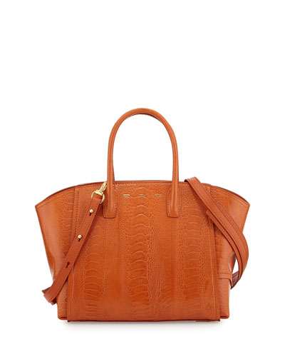 Brera 30 Sport Ostrich Satchel Bag, Orange