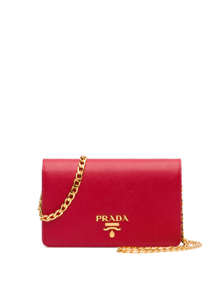 393f55df2e78 Prada Saffiano Lux Crossbody Bag, Red (Fuoco)