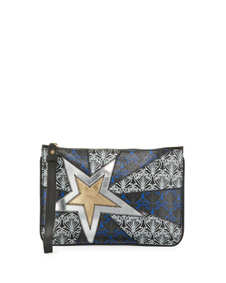 Liberty London Stars Iphis Zip-Top Wristlet Bag