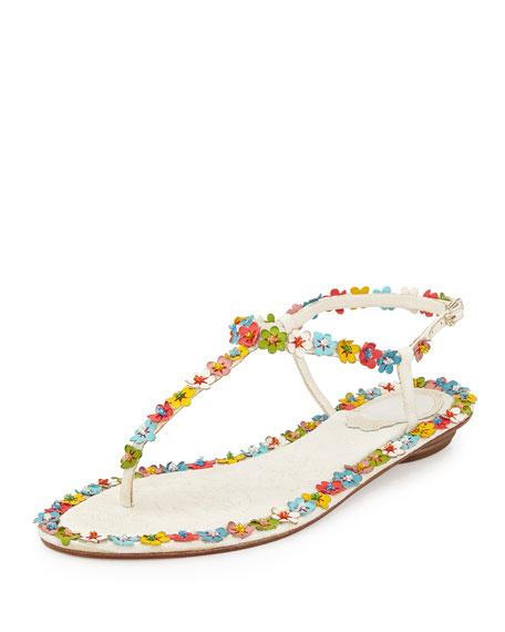 907de350ff619f Rene Caovilla Lace   Floral Thong Sandal