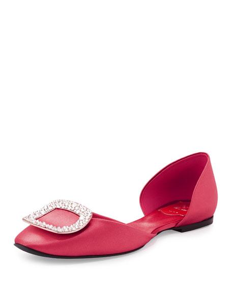 Roger Vivier Ballerine Chips d Orsay Flat, Old Pink 563852096f86