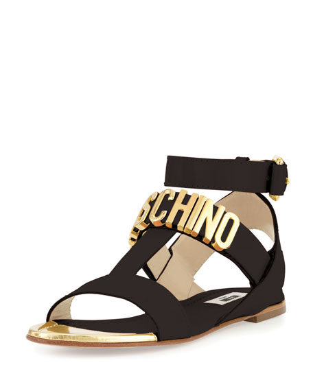Moschino Flat Logo Sandal Prices Online The Cheapest Online Factory Outlet Cheap Online Limited Edition Clearance New Styles 3MrdN