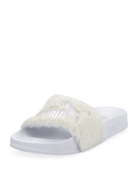 bdbd29fc8425 Fenty Puma by Rihanna Leadcat Fenty Faux-Fur Slide Sandal