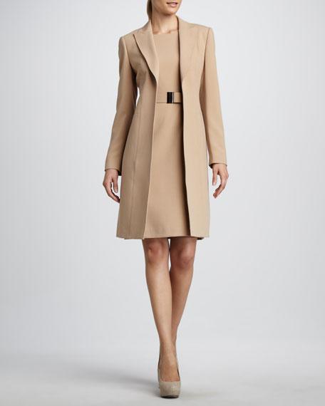 Long Sheath Dresses with Coats