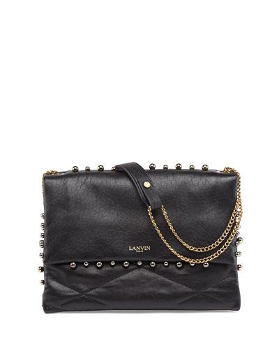 Sugar Studded Shoulder Bag, Black
