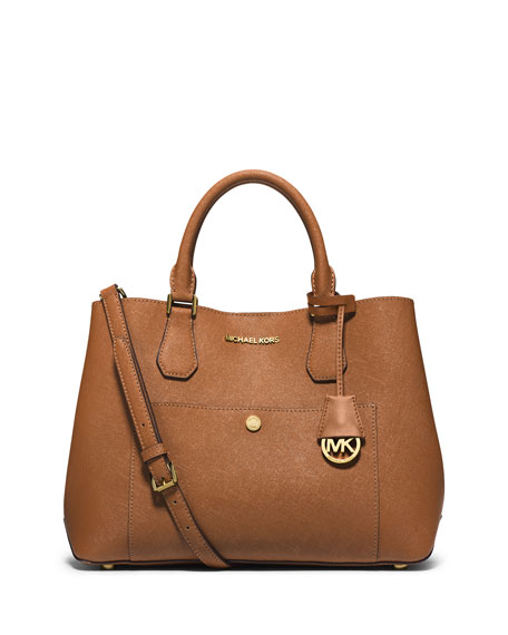 michael michael kors greenwich large leather tote bag luggage rh neimanmarcus com
