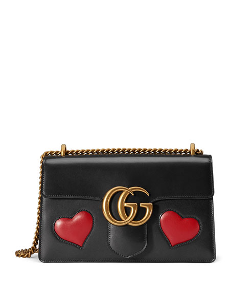 69737f67264ee Gucci GG Marmont Medium Heart Shoulder Bag
