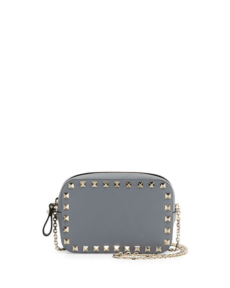 great deals top-rated professional Sales promotion Rockstud Small Chain Camera Crossbody Bag Light Gray
