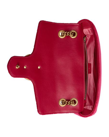 e864fcb50134 110th Anniversary Gg Marmont Small Panther Velvet Shoulder Bag ...