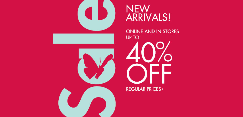 Up to 40% Off! New Sale Arrivals!