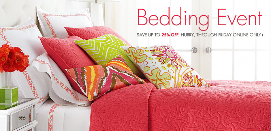 Bedding Sale! Up to 25% off
