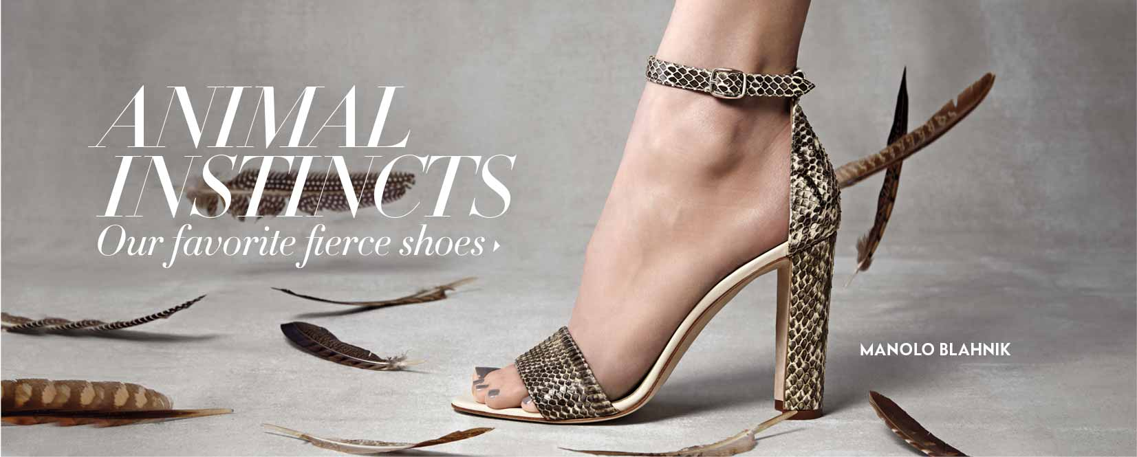 Manolo Blahnik Shoes: Animal Instincts