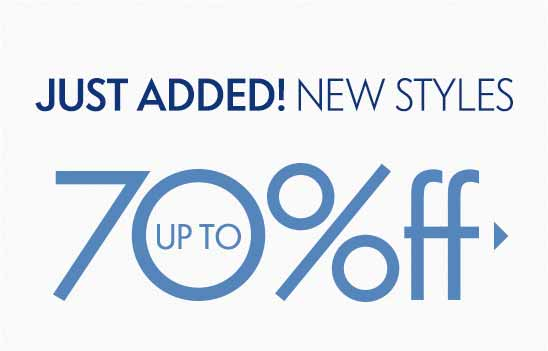 Sale! Up to 70% off Sale