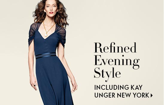 Refined Evening Style featuring Kay Unger New York