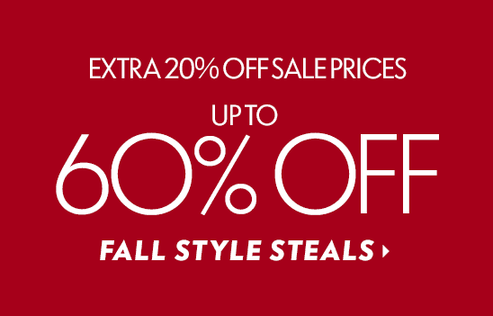 60% Off Fall Style Steals