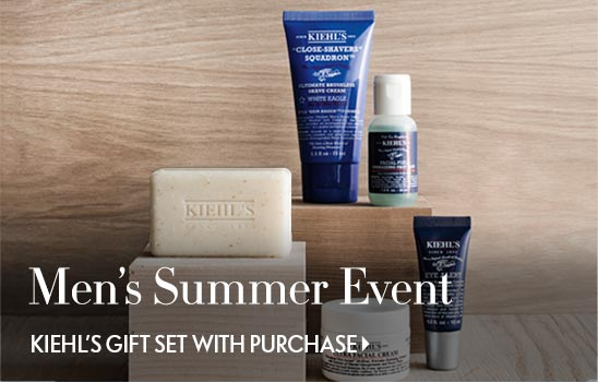 The Men's Summer Event Kiehl's gift set with purchase
