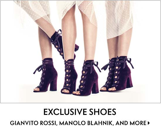 Exclusive Shoes Gianvito Rossi, Manolo Blahnik, and more