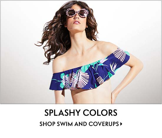 Bright splashy colors shop swim and coverups