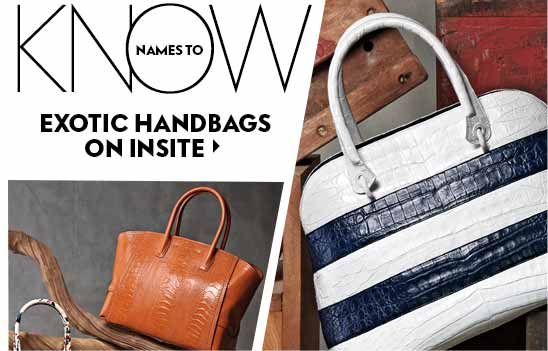 Names to Know: Exotic Handbags on Insite