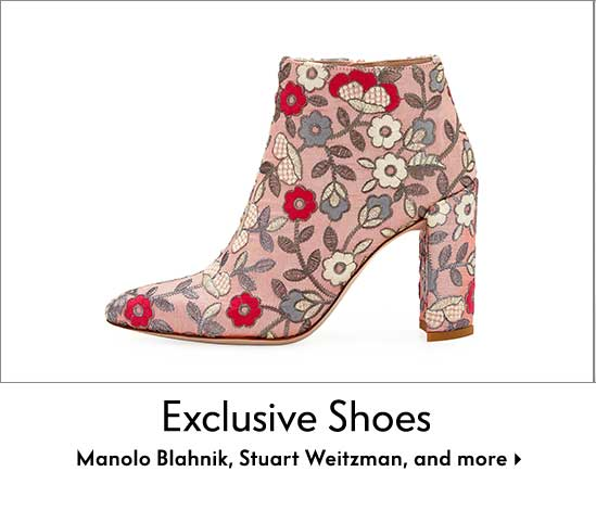 Exclusive Shoes - Manolo Blahnik, Stuart Weitzman, and more