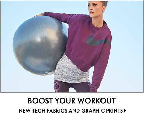 Boost your workout new tech fabrics and graphic prints