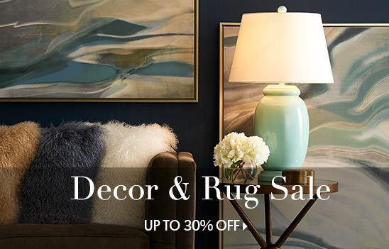 Decor and rug sale up to 30% off
