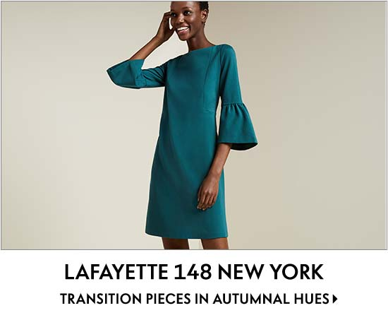 Lafayette 148 New York Transition pieces in autumnal hues