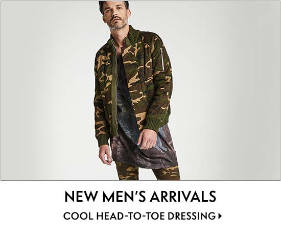 New Men???s Arrivals Cool head-to-toe dressing