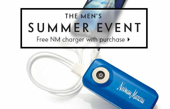 Free charger with purchase! Mens Summer Event