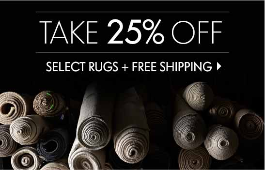 25% Off Rug Event + Free Shipping