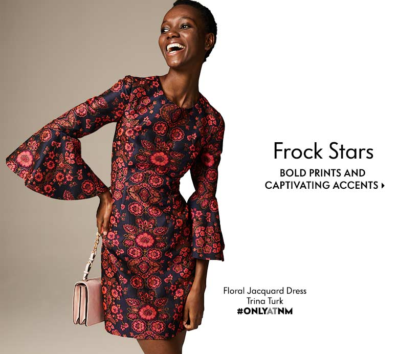 Frock Stars Bold prints and captivating accents Trina Turk Floral Jacquard Dress #ONLYATNM