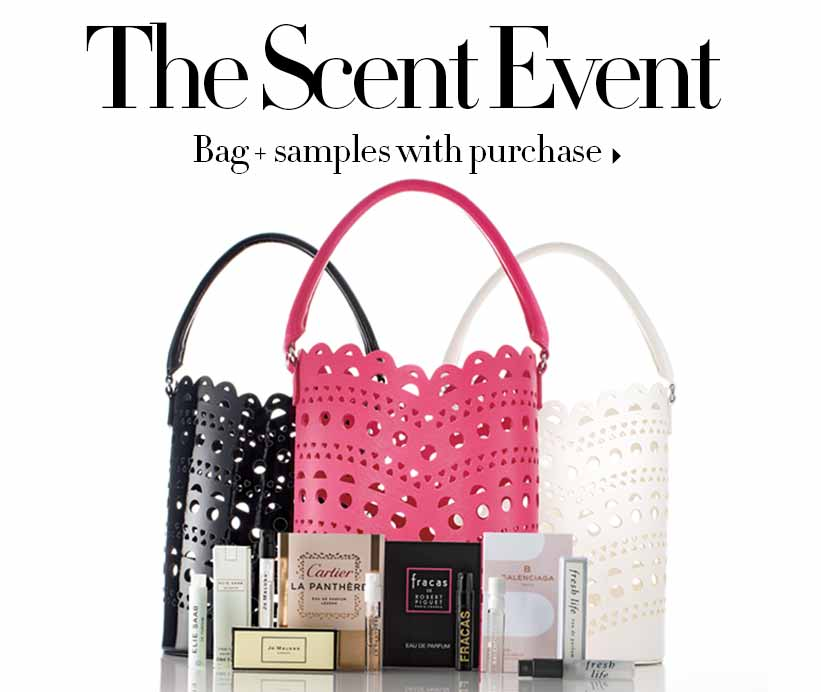 Scent Event: Bag and Samples with purchase