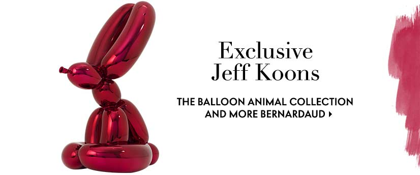 Exclusive Jeff Koons the balloon animal collection and more Bernardaud