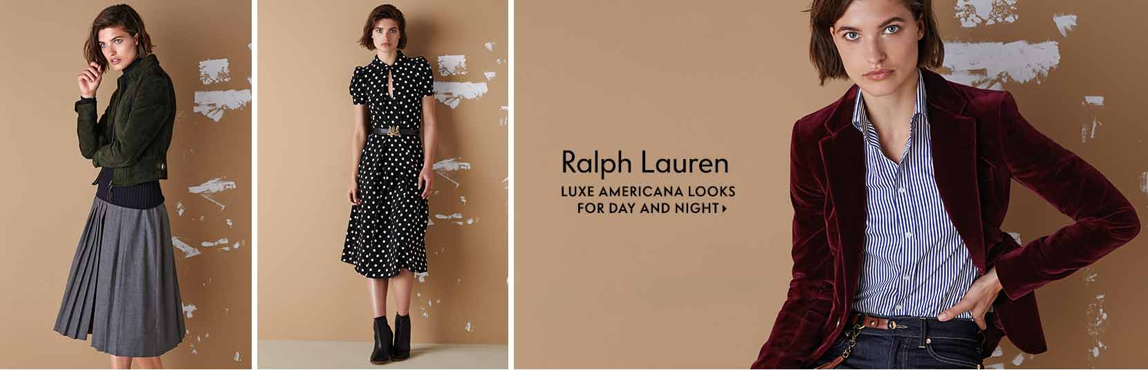 Ralph Lauren Luxe Americana looks for day and night