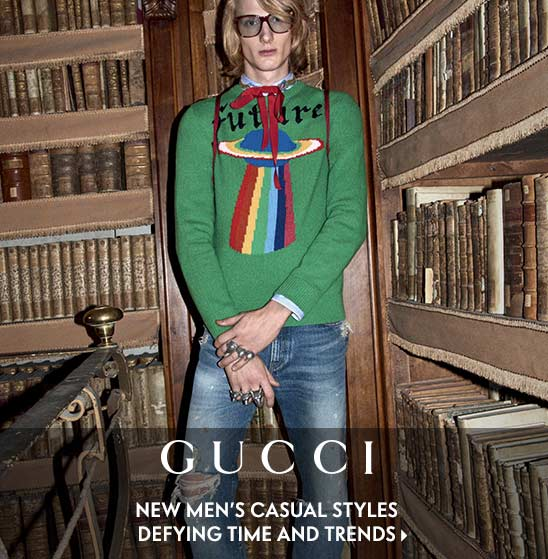 Gucci new men's casual styles defying time and trends