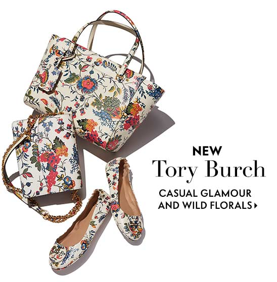 New Tory Burch Casual glamour and wild florals