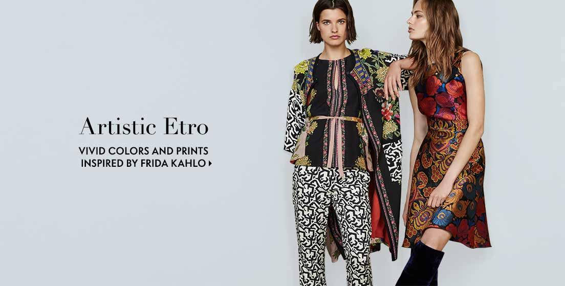 Artistic Etro Vivid colors and prints inspired by Frida Kahlo