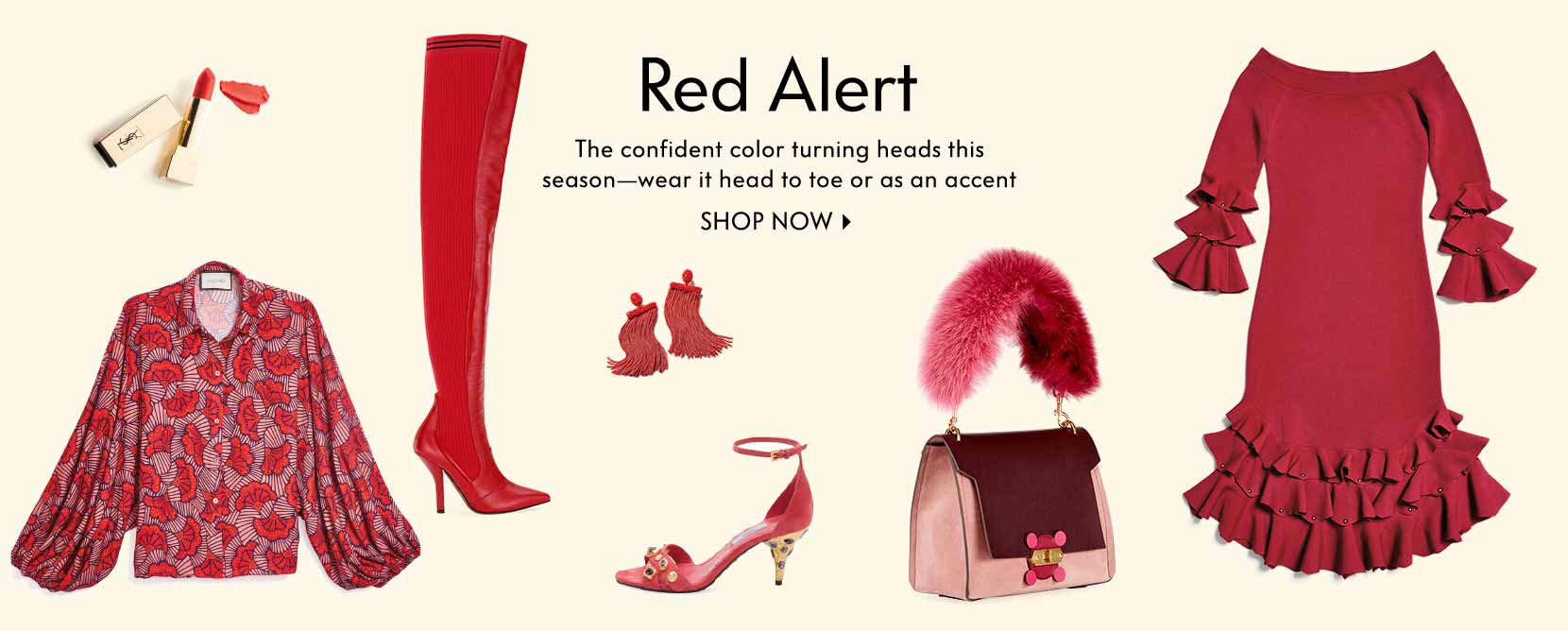 Red Alert The confident color to wear head to toe or as an accent Shop now