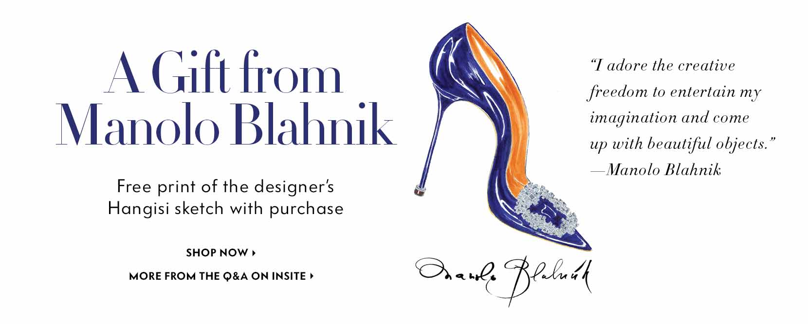 Manolo Blahnik gift with purchase